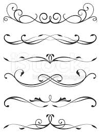 A Various Scroll Designs Graphic Design Pattern Scroll