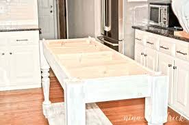 amazing build your own kitchen island tutorial free building plans table plan diy oversized