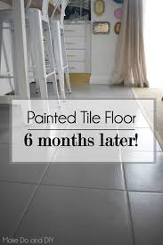 painted tile floor six month update