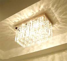 chandelier rectangle modern art style light chrome finish clear crystal rectangle chandelier l