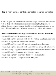 Top 8 high school athletic director resume samples In this file, you can  ref resume ...