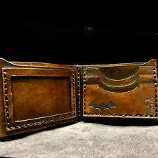 leather batman wallet batman gift batman wallet gift