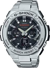 search g shock g steel stainless steel men s watches casio g shock g shock g steel gsts110d 1a