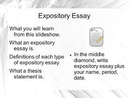 research techniques what makes for a good source reputable  expository essay what you will learn from this slideshow what an expository essay is
