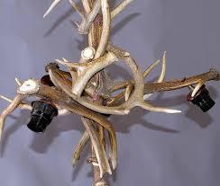 rustic shapely antique black forest antler chandelier for