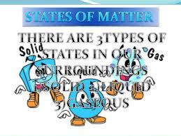Resultado de imagen de states of matter
