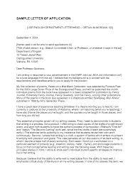 Lecturer Application Letter Sample Of Application Letter For