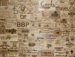 wood branding iron impressions
