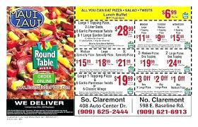 round table pizza elk grove lunch buffet hours s regarding claremont north lun