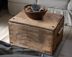 wooden crate coffee table best