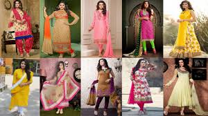 Plain Punjabi Suit With Lace Design 50 Different Salwar Suit Kameez Designs For Women 2019