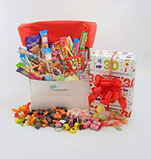 happy 30th birthday gift wrapped retro sweet her box male or female themed