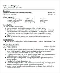 sample civil engineering resume entry level modern engineering resume  templates ...