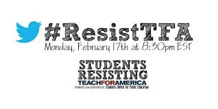 help i need your advice should i apply to teach for america   resisttfa tweet csommer resisttfa