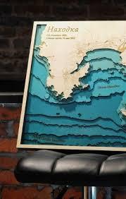 Wood Bathymetric Charts Pin On Maps And Globes