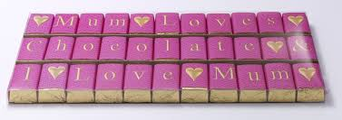 chocospell chocolate message 33 chocs bright pink wrapper