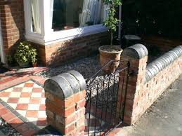 front garden brick wall designs picture small brick wall designs front garden