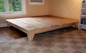 wood platform bed frame full.  Wood Unique Rustic Platform Bed Frame King With Cool Design To Wood Full
