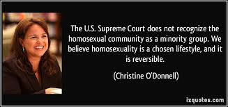 The U.S. Supreme Court does not recognize the homosexual community ...