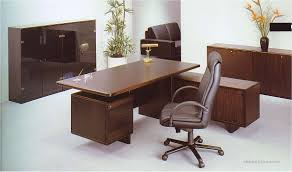 modern office desks ideas with natural wooden executive desk with drawers