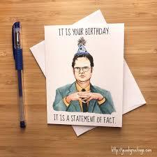 Office Birthday Nerd Birthday Cards Funny Dwight Office Birthday Card Nerdy Birthday