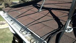 roof wires melt ice heated gutter cable installation easy heat cables youtube