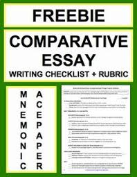 synthesis essay writing checklist guide rubric synthesis   comparative essay writing checklist guide rubric comparative essay writing checklist and rubric