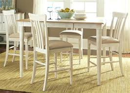 white counter height table. White Counter Height Dining Table Cove Gathering 5 Piece Set In Weathered