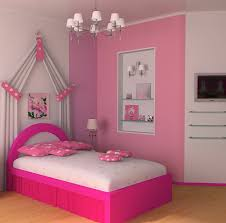 Color Ideas For Teenage Girl Room White Pink Colors Wooden Bedside