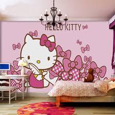 kids bedroom for girls hello kitty. Wall Mural Hello Kitty Wallpaper Kid Bedroom Children Girl Baby Pink Kids For Girls
