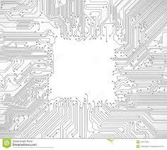 Circuit Board Background Stock Vector Illustration Of Processor