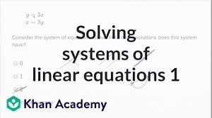 solving systems of linear equations basic example math