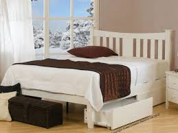 painted wooden bed frame designs
