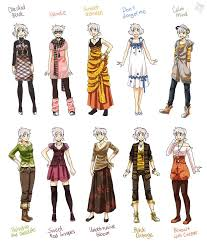Design Clothes Anime Manga Clothes Female Anime Various Female Clothes 9 By