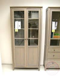 glass door cabinet distinctive assembly hemnes with panel white stain distincti