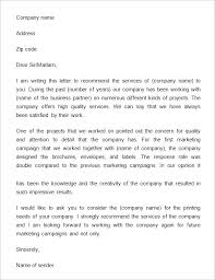 Free Recommendation Letter Sample Free Business Reference