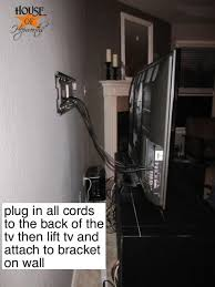 wall mounted tv tv wall hide tv cords