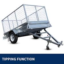 Tipping Box Trailer Designs New 8x5 Full Welded Galvanised Box Trailer With 900mm Cage