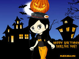 halloween birthday greeting happy birthday to my dearest halloween girl cousin darling the