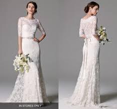 marchesa bohemian sheath wedding dresses with half sleeve 2017