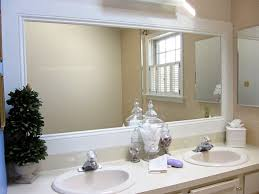 bathroom mirror white frame