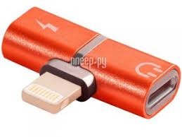 <b>Аксессуар Greenconnect</b> USB 2.0 Lightning 8pin - <b>jack 3.5mm</b> Red ...
