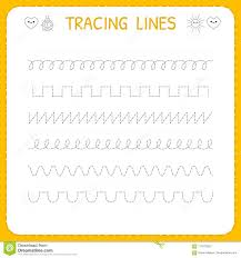 Writing Lines For Kindergarten Trace Line Worksheet For Kids Basic Writing Working Pages