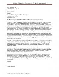 Ideas Of Cover Letter For Resume Special Education For Service
