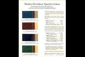 Harley Davidson 2019 Color Chart Harley Davidson History Harley Davidson Usa