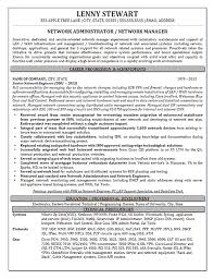 network manager resume example it manager resume example