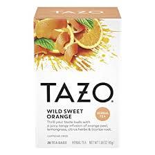 Tazo <b>Wild</b> Sweet Orange <b>Herbal Tea</b> Filterbags (20 count): Amazon ...