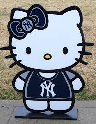 New York Yankees Bedroom Decor Hello Kitty New York Yankees Heres A Cute Wood Decor Sign To