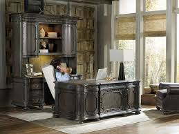 computer hutch home office traditional. Victorian Home Office Concept With Glossy Black Computer Desk Traditional Hutch And Classic Bookcase M