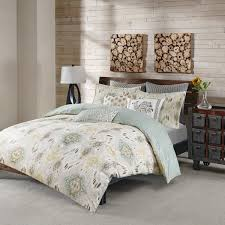 ink ivy nia seafoam cotton duvet cover mini set